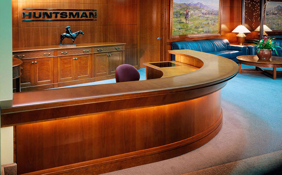 fetzer architecture woodworking Huntsman Corporate Headquarters project