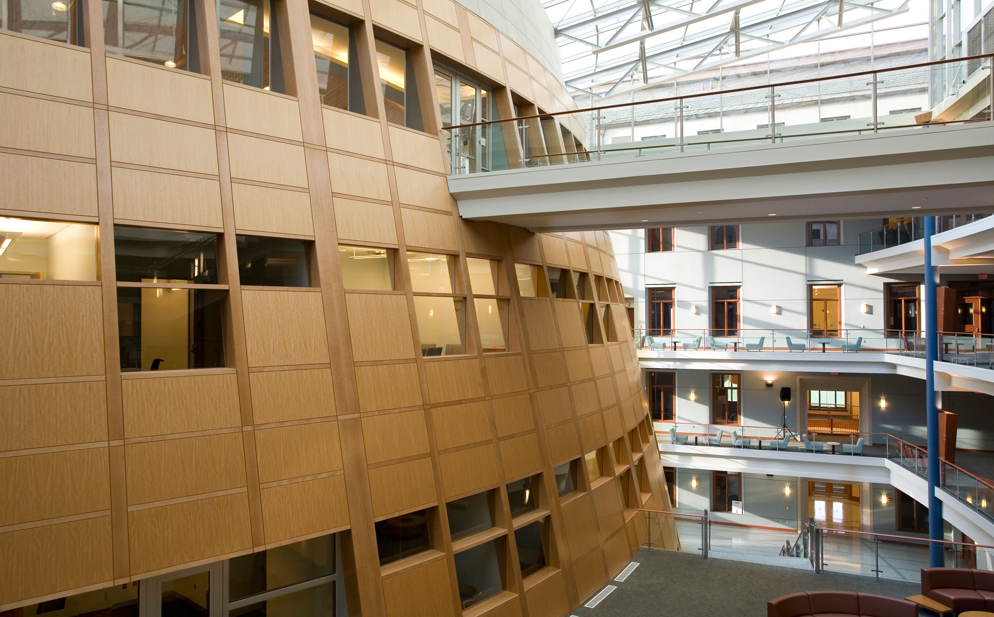 fetzer architecture woodworking McDonough School of Business project