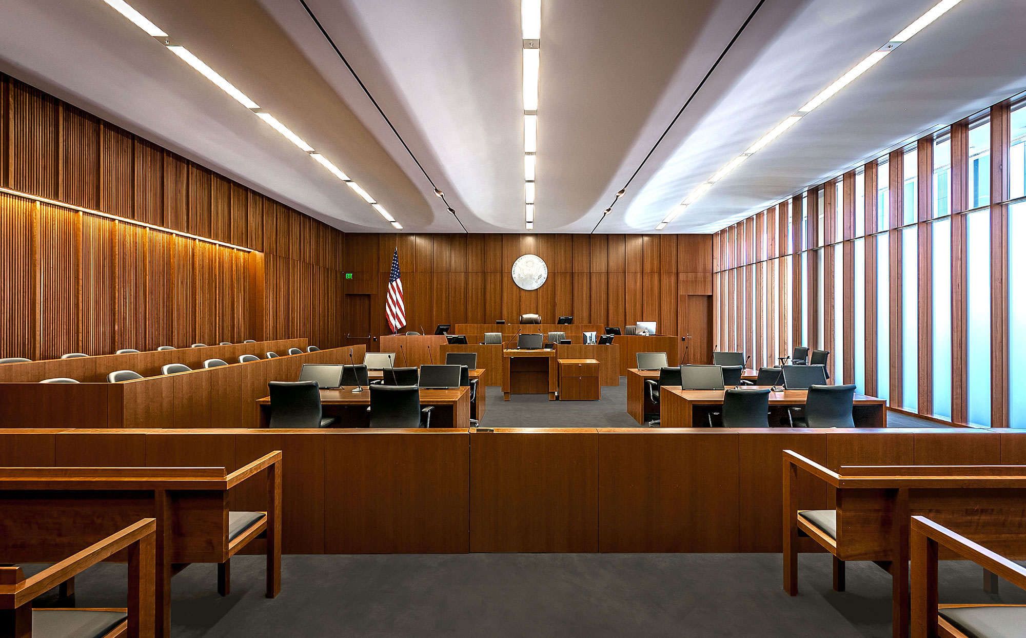 fetzer architecture woodworking Salt Lake Federal Courthouse project