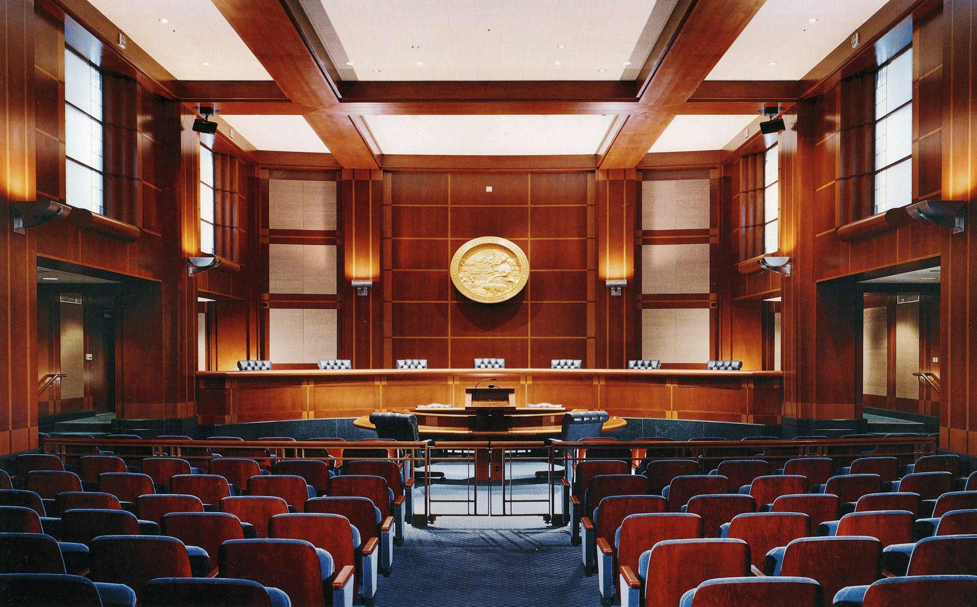 fetzer architecture woodworking San Francisco Courthouse project